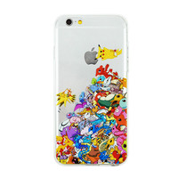 All Pokemon Pile Phone Case For iPhone 7 7Plus 6 6s Plus 5 5s SE Pikachu