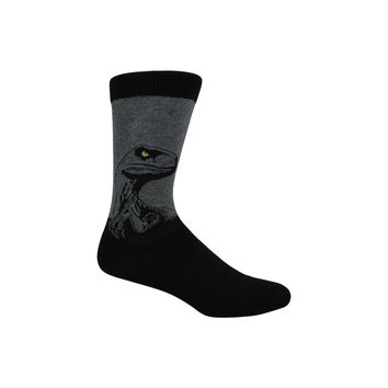 Raptor Crew Socks in Heather Gray