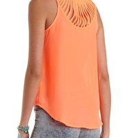 Strappy Neon Swing Tank by Charlotte Russe