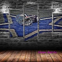 Dallas Cowboys Canvas Painting Living Room Home Decor Modern Mural Art Oil Painting