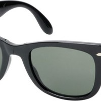 Ray-Ban Folding Wayfarer Gloss Black Sunglasses
