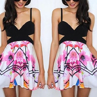 Hawaii Inspired Cut-Out Dress