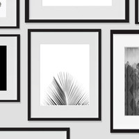 Palm Tree Wall Art, Tropical Monochromatic Art, Minimalist Prints, For The Home