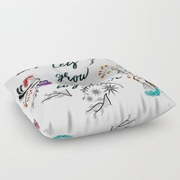 Lets grow old together Floor Pillow by famenxt