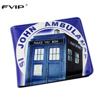 FVIP PU Leather Wallet Cosplay Doctor Who /Dragon Ball /Deadpool /Star Wars Wallets With Card Holder Dollar Price