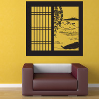 Vinyl Wall Decal Sticker Japanese Window View #OS_DC684