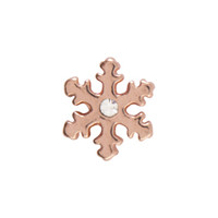 Origami Owl Custom Jewelry - Rose Gold Snowflake Charm
