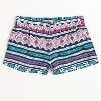 Black Poppy Smocked Challis Shorts - PacSun.com
