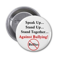 Speak Up Against Bullying Button from Zazzle.com