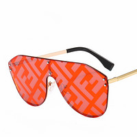 Fendi new women's tide brand square large frame sunglasses #4