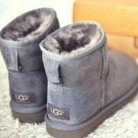 UGG Women Fashion Wool Snow Boots Sheos-1