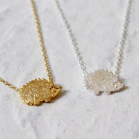 Shunyun Lovely Cartoon Animal Necklaces for Women Jewelry Cute Hedgehog Necklace Pendants Vintage Simple Long Necklace Gifts