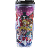 Sailor Moon Group Acrylic Travel Mug