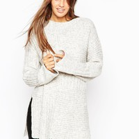 ASOS Premium Blocked Pattern Jumper in Alpaca Mix