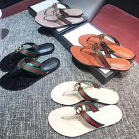 Gucci Women's Leather Sandals-KUYOU