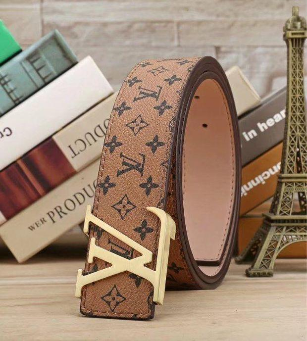 Image of LV Woman Fashion Smooth Buckle Belt Leather Belt H-A-GFPDPF