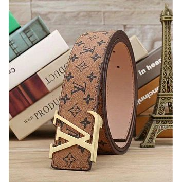 LV Woman Fashion Smooth Buckle Belt Leather Belt H-A-GFPDPF