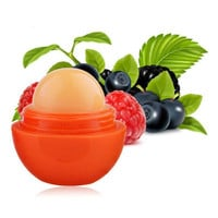 6 Colors Ball Lip Balm Lipstick Organic Ingredients Lip Protector Sweet Taste Fruit Embellish Lip Ball Makeup Lipstick Gloss
