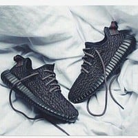 """""""Adidas"""" Women Yeezy Boost Sneakers Running Sports Shoes Black"""