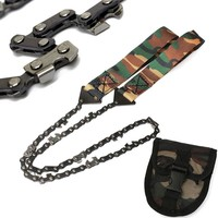 Camo Survival Chain Saw Hand Military Jungle ChainSaw Emergency Camping Tool Pocket Gear Tool