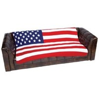 American Flag Fleece Blanket Throw