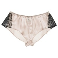 Deco Lace Tap Pant in Ivory   Couture Silk Lace Nightwear   Specimens of Seduction by Layla L'obatti