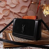 Yves Saint Laurent YSL Women Shopping Leather Crossbody Satchel Shoulder Bag Monogram Tote Handbag Bags Best Quality black