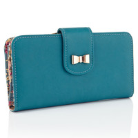 Berty Bow Tab Wallet | Blue | Accessorize
