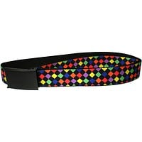 Diamonds - Black and Multi Neon Web Belt