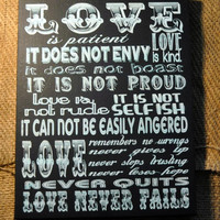Thanksgiving Sale LOVE IS patient, Love is Kind... - Unique Canvas Art  for Home, Office, Dorm, Bedroom, Kids Room wall art