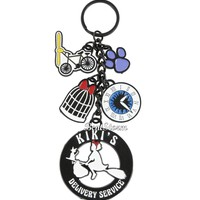Licensed cool Studio Ghibli Kiki's Delivery Service Jiji Cat Charm Metal Key Ring Keychain