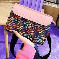 elainse29 MCM Colorful Stra Double G Print Jumping Candy Cross Body Bag