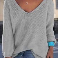 Loose Talk V Neck Knitted Top