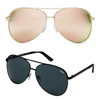 Final Sale - Quay Australia - Vivienne 64mm Oversized Aviator Sunglasses - More Colors