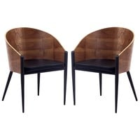 Cooper Dining Chairs Set of 2 Walnut EEI-915-WAL