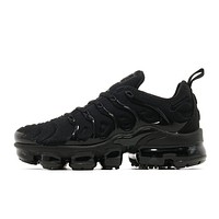 DCCK Nike Air Vapor Max Plus Triple Black Vapormax Running Sneakers Sport Shoes