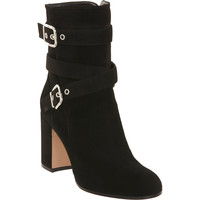 Buckle Strap Mid-Calf Boot