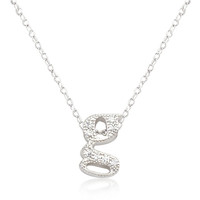 Micro-Pave Initial G Pendant