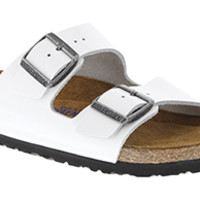 Arizona Soft Footbed Bright White Patent Leather Sandals | Birkenstock USA Official Site