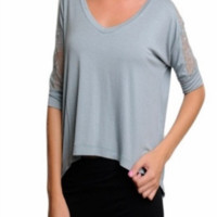 Lacey -- CHARCOAL GREEN GREY