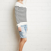 Stripe-Patterned Sweater