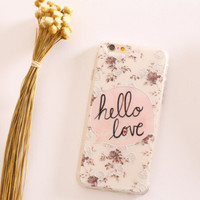 Hello Love Lace iPhone 5s 6 6s Plus Case Gift-100