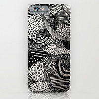 Black and White  iPhone & iPod Case by Urban Exclaim