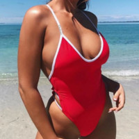 New one-piece swimsuit female swimsuit sexy bikini perfect color Sibi