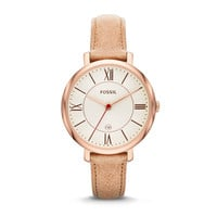 Jacqueline Sand Leather Watch