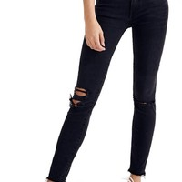 Madewell 9-Inch High Waist Skinny Jeans (Black Sea) (Petite) | Nordstrom