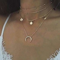 Multi-layer Choker Chain Necklaces