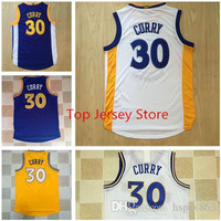 Hot Sale Men's Golden State City #30 Stephen Curry Jerseys White Blue Yellow warriors Basketball jersey New Rev 30 Stitched Logos