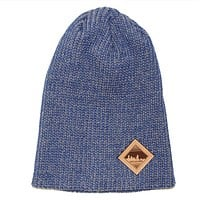 Baltimore Skyline (Harbor Blue) / Knit Beanie Cap