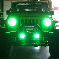 Lights - ORACLE - OR 7079-333 - Oracle Complete Head Light Kit with Halo LED Light Ring for 07-up Jeep® Wrangler JK and other Jeep Wrangler Parts, Jeep Accessories and Soft Tops by FORTEC